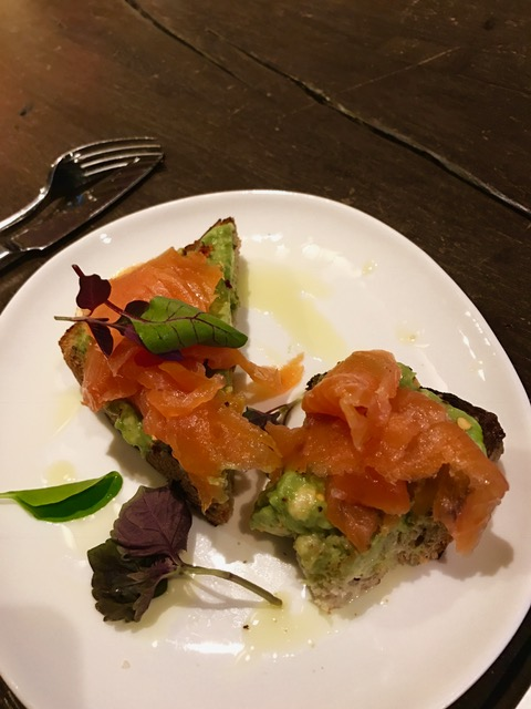 Lox avocado toast