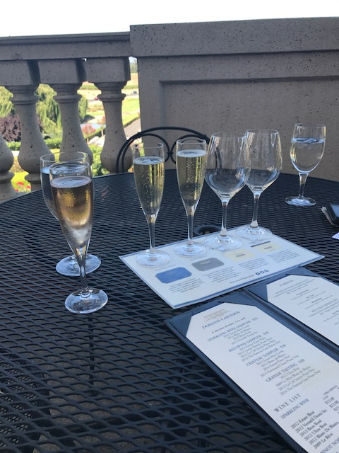 Sparkling wine flight at Domaine