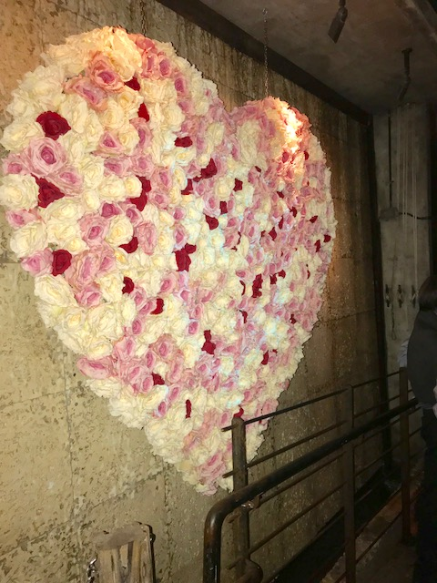 Flower wall at Kikis