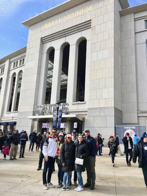 us at Yankee stadium